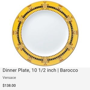 7 Versace Rosenthal Barocco Dinner Plate 10.5""